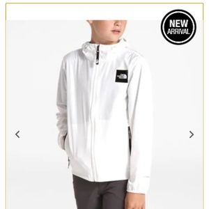 New North Face flurry windwall hoodie jacket 10/12